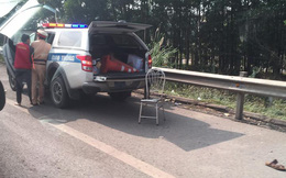 Chiến sỹ CSGT bị xe máy đâm trên cao tốc Hà Nội - Thái Nguyên đã tử vong