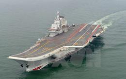 Máy bay phản lực Đài Loan bám sát hành trình tàu sân bay Liêu Ninh