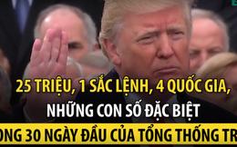 25 triệu, 1 và 4 - những con số đặc biệt trong 30 ngày đầu của Tổng thống Trump