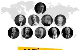 Những điều thú vị ít ai biết về 10 tỷ phú giàu nhất thế giới