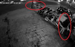 Nằm thảnh thơi trên ghế trông xe, người bảo vệ đã nhận ngay hậu quả