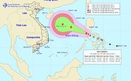 Bão số 13 đang tăng sức mạnh, hướng thẳng vào quần đảo Hoàng Sa
