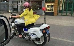 Cô gái lái xe đặc chủng của CSGT
