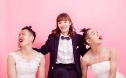 Bộ ảnh 3 chị em hoán đổi trang phục cô dâu chú rể cho nhau gây sốt mạng xã hội