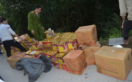 Công an Hà Giang thu giữ gần 600kg pháo tại bìa rừng