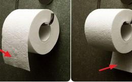 Đặt giấy vệ sinh theo chiều nào là đúng? Tranh cãi kinh điển suốt trăm năm cuối cùng cũng có lời giải