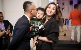Ngọc Thạch cười hạnh phúc bên chồng đại gia và con trai