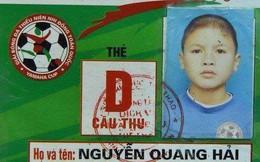 Đây là thẻ cầu thủ của Quang Hải 10 năm trước, và năm đó cậu bé đã là vua phá lưới
