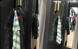 Phòng thay đồ có cũng như không của shop thời trang nọ khiến dân mạng đắn đo: Vách ngăn dùng để làm gì?