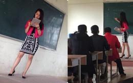 Thêm một cô giáo bị chụp trộm trên bục giảng khiến dân mạng xao xuyến