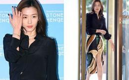 """Đẹp xuất sắc dù đã hạ sinh 2 con, """"mợ chảnh"""" Jeon Ji Hyun lại bị đôi chân gân guốc làm lộ dấu hiệu lão hóa"""