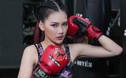 Siêu mẫu Bùi Quỳnh Hoa suýt ngất vì khổ luyện Muay Thái
