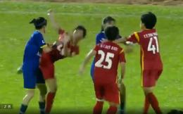 Họp khẩn để ra án phạt vụ cầu thủ nữ Việt Nam ẩu đả như phim hành động tại bán kết Giải VĐQG 2018