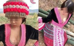 Diện trang phục dân tộc quá gợi cảm thành phản cảm, cô gái nhận nhiều chỉ trích