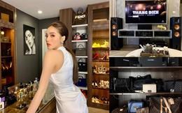 Hoa hậu Kỳ Duyên khoe phòng ngập tràn hàng hiệu, không còn chỗ để