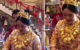 Cô dâu trĩu cổ cả yến vàng trong ngày cưới gây xôn xao dư luận