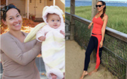 Cách giảm cân sau sinh độc - lạ của mẹ 2 con từng nặng 90kg nhưng hiệu quả không kém phương pháp bài bản nào