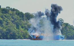 Nổ tàu cá, 14 ngư dân Lý Sơn thương vong