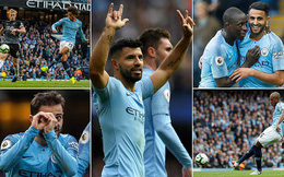 Vòng 9 Premier League: Man City 5-0 Burnley