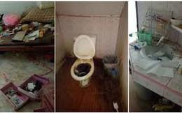"""Chủ nhà trọ phát hoảng khi nhận lại phòng cho thuê: Bẩn kinh hoàng như bãi rác bỏ hoang, bồn cầu """"nghìn năm không cọ"""""""