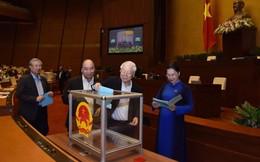 Quốc hội bỏ phiếu kín lấy phiếu tín nhiệm với 48 chức danh