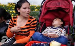 Giấc mơ bên chiếc xe nôi của mẹ em bé 4 tuổi, 2 năm không thể khép mi ngủ, cuối tuần đưa nhau lên phố đi bộ bán hàng