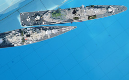 Mô hình tàu hộ vệ tên lửa Gepard 3.9 và tàu tên lửa Monliya 1241.8 tuyệt đẹp của HVHQ