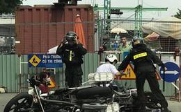 """Hải Phòng: Đang làm nhiệm vụ, một chiến sỹ công an bị """"quái xế"""" đâm gãy chân"""