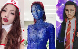 """Mùa Halloween, sao Việt biến thành Harry Potter, """"dị nhân da xanh"""" Mystique"""