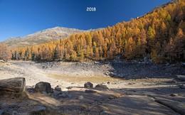 Hồ nước nổi tiếng ở độ cao 2.000m trên dãy Alps bỗng nhiên cạn trơ đáy