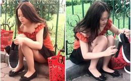 """Danh tính cô gái đánh giày trên vỉa hè bị dân mạng """"ném đá"""" vì nghĩ sống ảo, câu like"""