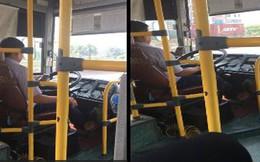 Vừa lái xe vừa dùng điện thoại, tài xế xe buýt ở Hà Nội bị đình chỉ công việc