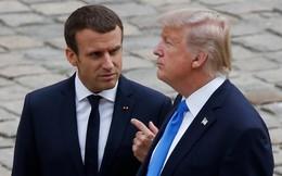 """Vừa đáp xuống Paris, ông Trump đã """"mắng"""" Tổng thống Pháp vì ý tưởng """"thành lập quân đội riêng của châu Âu"""""""