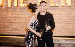 Hoa hậu Thu Hoài ôm, hôn Quốc Thiên tình cảm trước mặt bạn trai