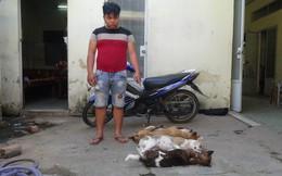 Thanh niên trộm chó vào đổ xăng thì bị bắt giữ