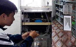 """Nam sinh trường huyện chế tạo """"máy hút - khử khí độc trong phòng thực hành hóa học"""""""
