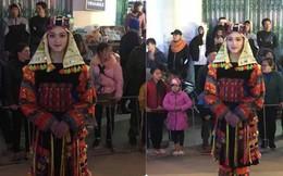 """Bị chụp lén trong lễ hội tại Hà Giang, cô gái trong trang phục dân tộc gây """"bão"""""""