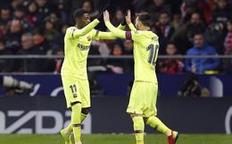 """Tung đòn phút cuối, Messi giải cứu Barcelona khỏi """"cạm bẫy"""" Atletico Madrid"""