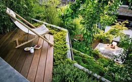 Khu vườn sở hữu góc thư giãn đẹp đến mức ai nhìn cũng mê mẩn