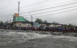 Nam thanh niên bị nước cuốn mất tích trong cơn bão số 9 ở Sài Gòn