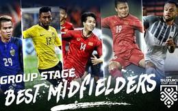 Công Phượng - Quang Hải lọt top 5 tiền vệ xuất sắc nhất vòng bảng AFF Cup