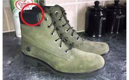 Kỷ niệm ngày cưới chồng mua giày qua mạng tặng, mở ra vợ chết sững khi thấy vật lạ ở trong