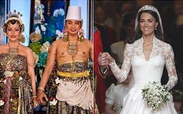 Chùm ảnh những chiếc váy cưới của các hoàng gia trên khắp thế giới, chiếc đẹp không tì vết, cái kỳ lạ bất ngờ