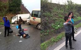 Hiện trường tai nạn ở Quảng Ninh: Người phụ nữ nằm bất động giữa đường, bé trai đổ máu
