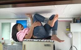 Cô vợ bị bắt nằm ngửa trên nóc tủ lạnh và lời lý giải đặc biệt từ người chồng