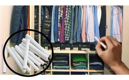 Ai cũng nghĩ tôi nhầm khi cho phấn viết vào tủ quần áo, biết lý do rồi thì gật gù làm theo
