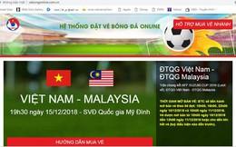 Cảnh báo: Xuất hiện website bán vé bóng đá giả mạo LĐBĐVN