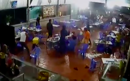 Nhóm giang hồ vác dao truy sát người đàn ông ở quán nhậu