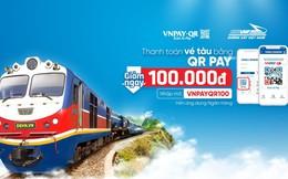 Dùng QR Pay trên ứng dụng ngân hàng để thanh toán vé tàu, vừa nhanh vừa tiết kiệm