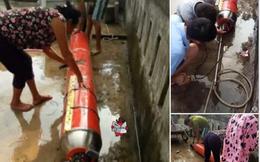 Ngoài Phú Yên, một vật thể lạ hình trụ cũng được phát hiện mắc vào lưới ngư dân Quảng Bình